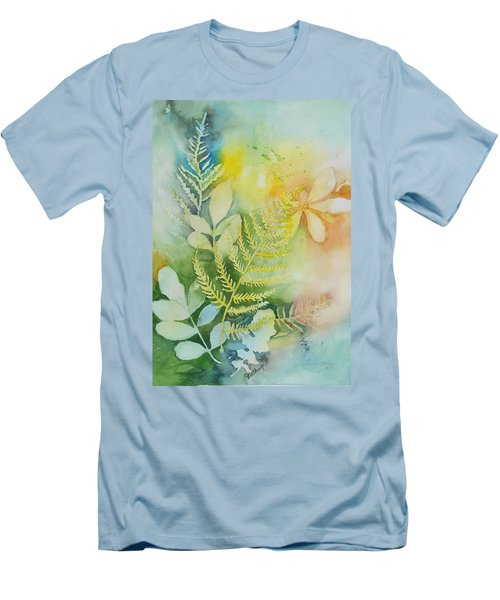 Ferns 'n' Leaves Men's T-Shirt (Athletic Fit)