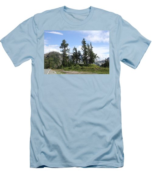 Men's T-Shirt (Slim Fit) featuring the photograph Fir Trees At Mount Baker by Tom Janca
