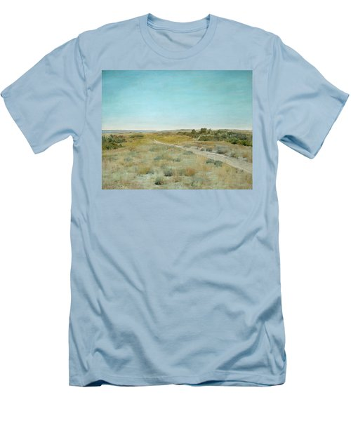 First Touch Of Autumn Men's T-Shirt (Slim Fit) by William Merritt Chase