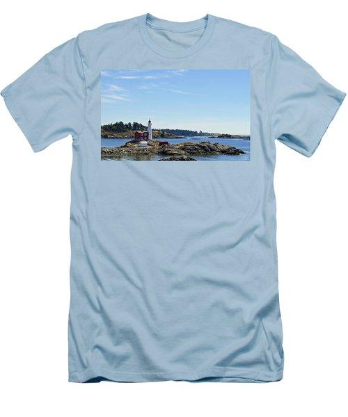 Fisgard Lighthouse Men's T-Shirt (Athletic Fit)