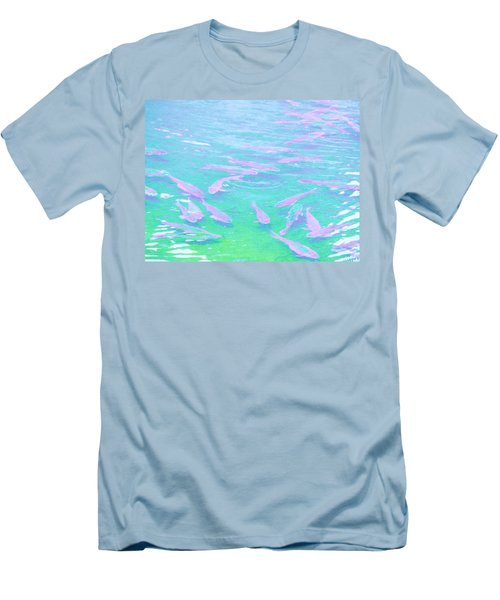 Men's T-Shirt (Slim Fit) featuring the photograph Fish by Rachel Mirror