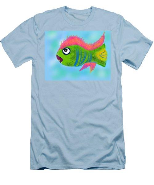 Men's T-Shirt (Slim Fit) featuring the digital art Fish Wish by Christine Fournier