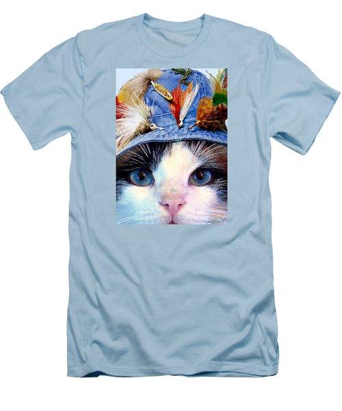 Fisher Cat Men's T-Shirt (Slim Fit) by Michele Avanti