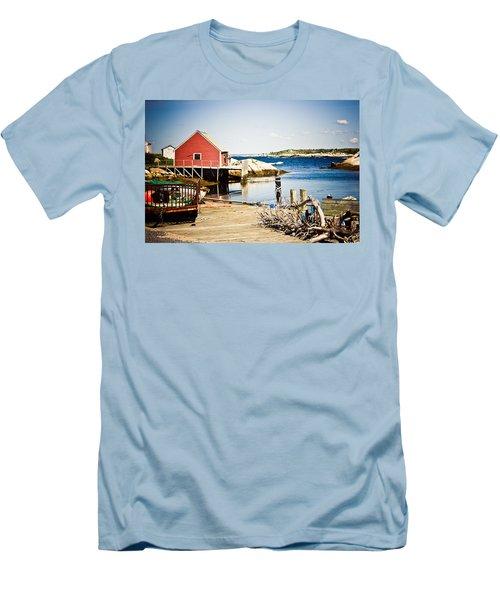 Fisherman's Cove Men's T-Shirt (Slim Fit) by Sara Frank