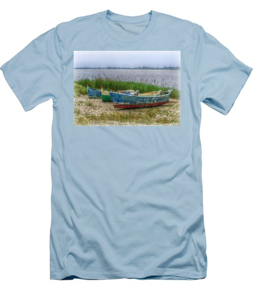 Men's T-Shirt (Slim Fit) featuring the photograph Fishing Boats by Hanny Heim