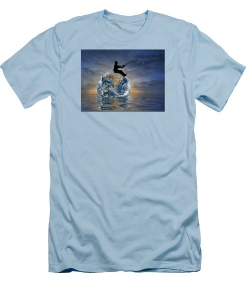 Fishing Is My World Men's T-Shirt (Athletic Fit)
