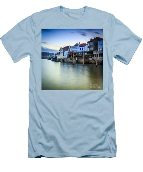 Fishing Town Of Redes Galicia Spain Men's T-Shirt (Slim Fit) by Pablo Avanzini