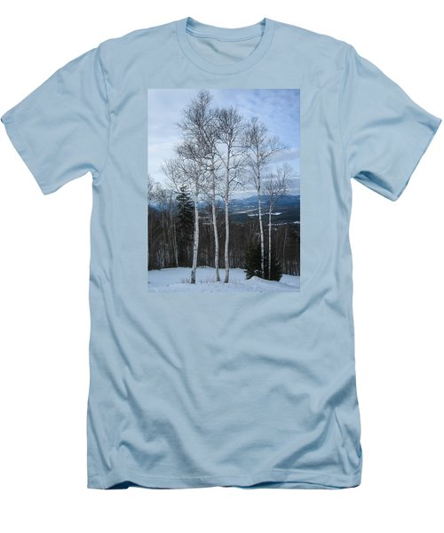 Five Birch Trees Men's T-Shirt (Athletic Fit)