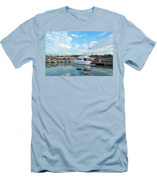 Flag View II Men's T-Shirt (Athletic Fit)