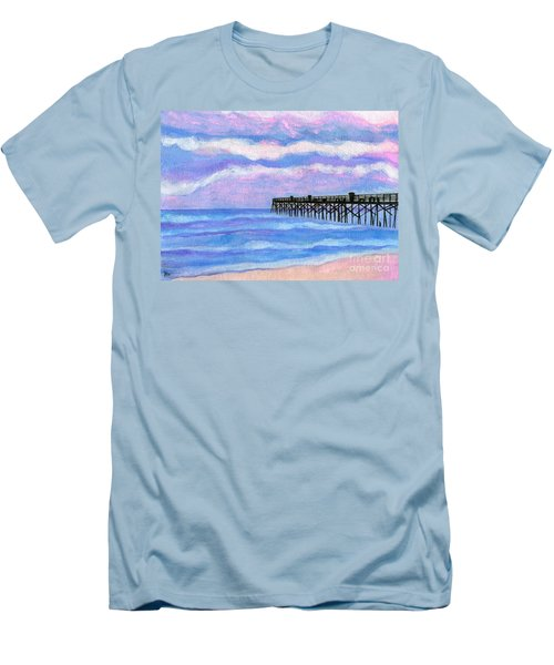 Flagler Beach Pier Men's T-Shirt (Athletic Fit)