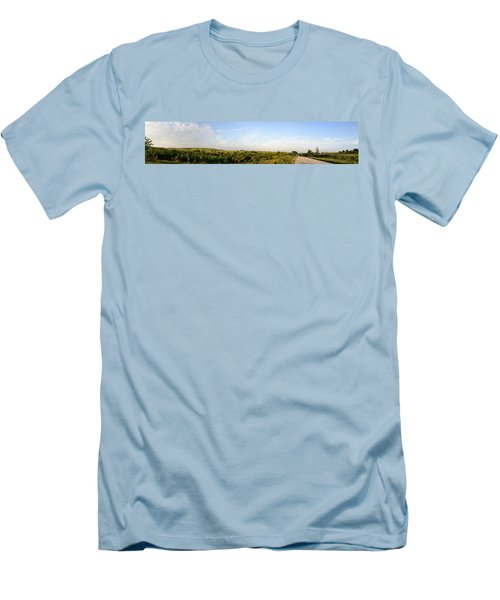 Men's T-Shirt (Slim Fit) featuring the photograph Flint Hills 2 by Brian Duram