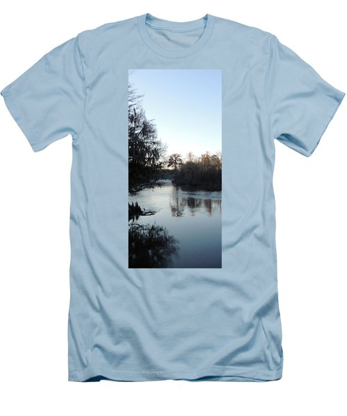 Men's T-Shirt (Slim Fit) featuring the photograph Flint River 23 by Kim Pate