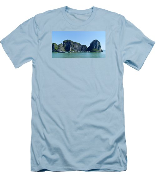 Floating Village Ha Long Bay Men's T-Shirt (Slim Fit) by Scott Carruthers