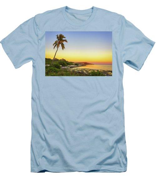 Florida Keys Sunset Men's T-Shirt (Slim Fit) by Swank Photography