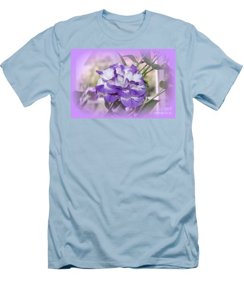 Men's T-Shirt (Slim Fit) featuring the photograph Flower In A Haze by Linda Prewer
