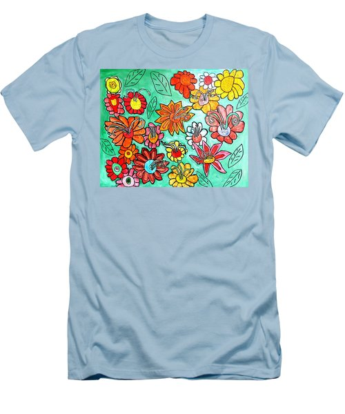 Flower Power Men's T-Shirt (Slim Fit) by Artists With Autism Inc