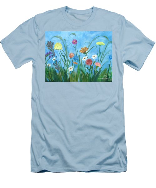 Flowers All Around Men's T-Shirt (Athletic Fit)