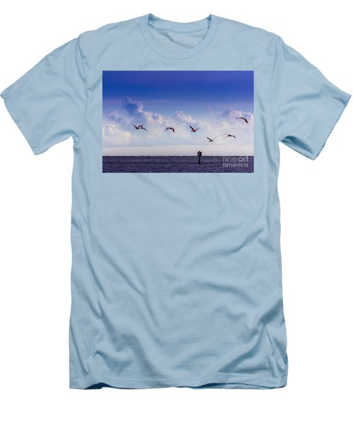 Flying Free Men's T-Shirt (Slim Fit) by Marvin Spates