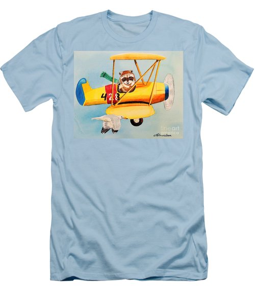 Flying Friends Men's T-Shirt (Slim Fit) by LeAnne Sowa
