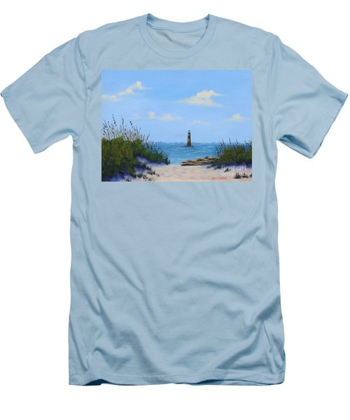 Folly Beach Lighthouse Men's T-Shirt (Athletic Fit)