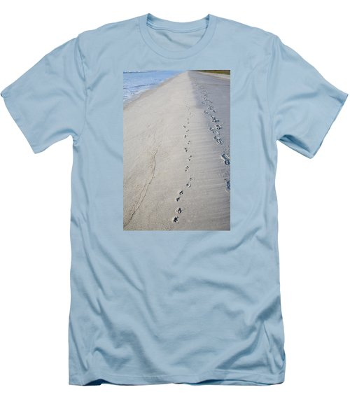 Footprints And Pawprints Men's T-Shirt (Athletic Fit)