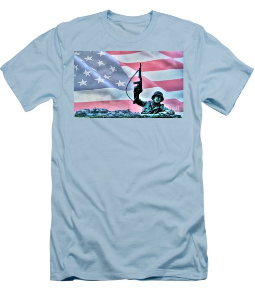 For Freedom Men's T-Shirt (Slim Fit) by Dan Stone