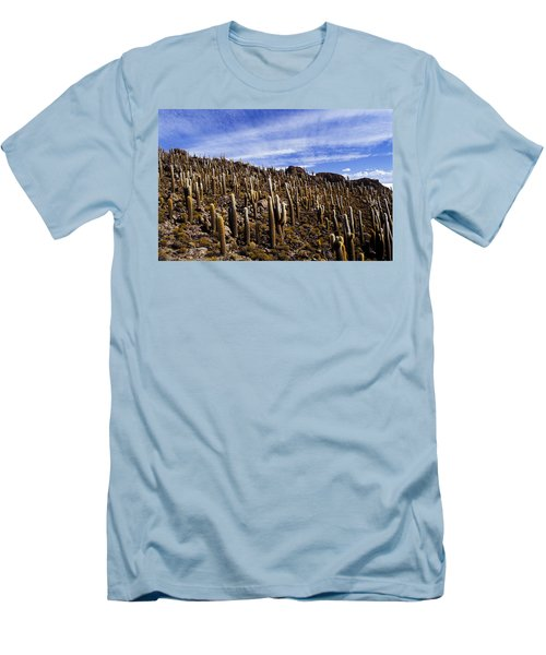 Men's T-Shirt (Slim Fit) featuring the photograph Forest Of Cacti by Lana Enderle