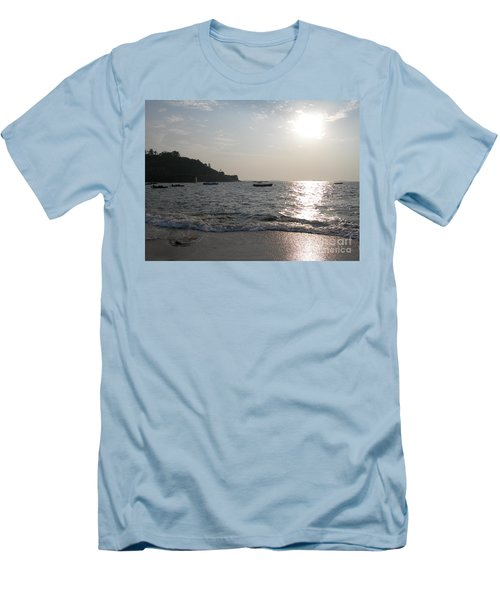 Fort Aguada Beach Men's T-Shirt (Slim Fit) by Mini Arora