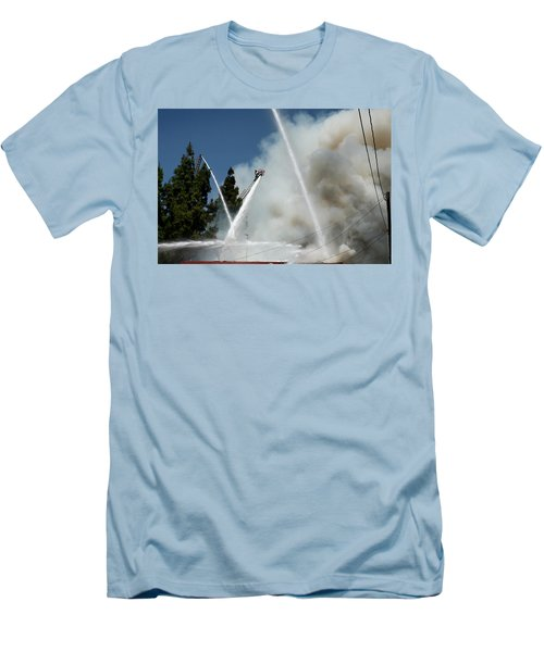 Four Alarm Blaze 003 Men's T-Shirt (Athletic Fit)