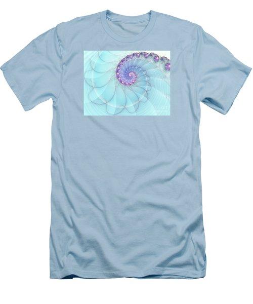 Fractal 17 Men's T-Shirt (Slim Fit) by Lena Auxier