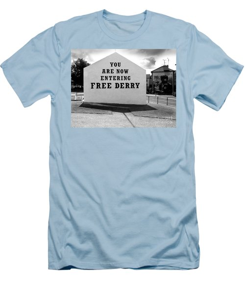 Men's T-Shirt (Slim Fit) featuring the photograph Free Derry Corner by Nina Ficur Feenan