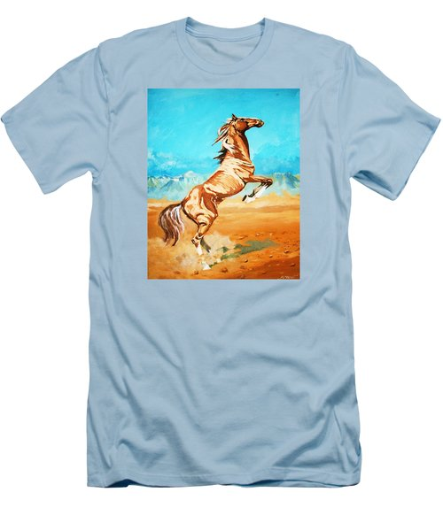 Men's T-Shirt (Slim Fit) featuring the painting Free Spirit by Al Brown