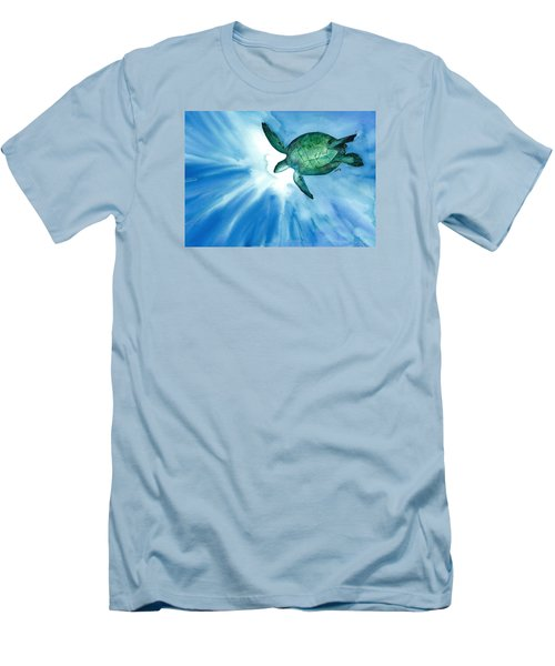 Sea Tutrle 2 Men's T-Shirt (Athletic Fit)