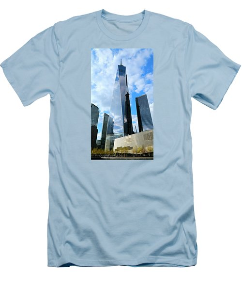 Freedom Tower Men's T-Shirt (Slim Fit) by Stephen Stookey