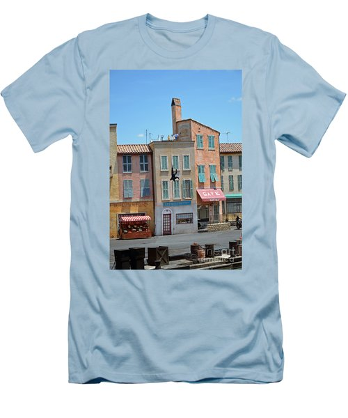 Men's T-Shirt (Slim Fit) featuring the photograph Freefall by Robert Meanor