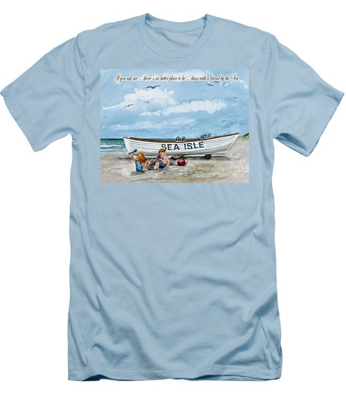 Friends By The Sea  Men's T-Shirt (Athletic Fit)