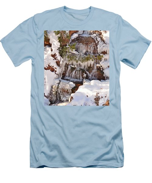 Frosty Cascades Men's T-Shirt (Athletic Fit)