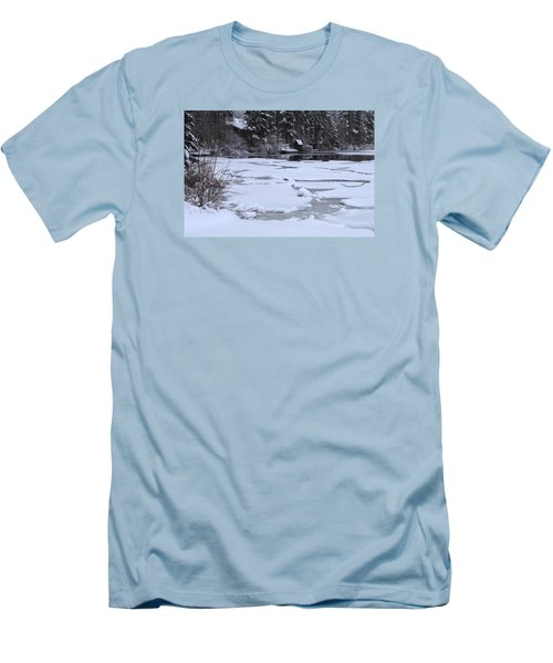 Frozen Silence  Men's T-Shirt (Slim Fit) by Duncan Selby