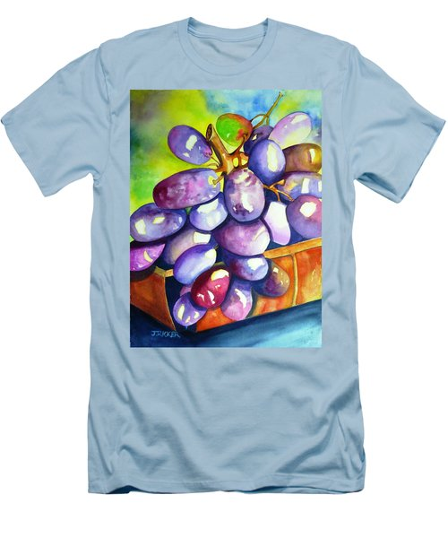 Purple Grapes Men's T-Shirt (Athletic Fit)