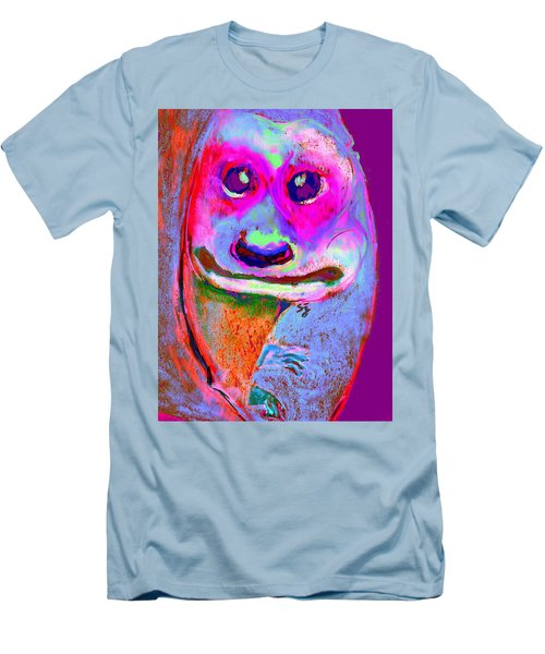 Funky Meerkat Tunnel Art Print Men's T-Shirt (Athletic Fit)