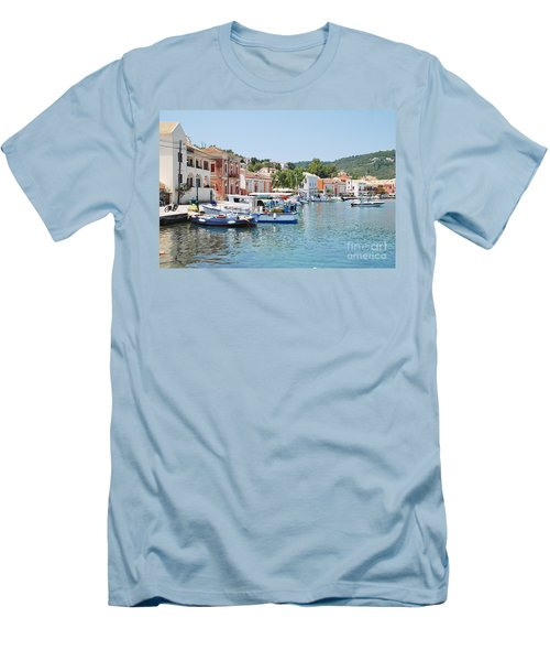 Gaios Harbour On Paxos Men's T-Shirt (Athletic Fit)