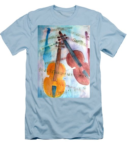 Men's T-Shirt (Slim Fit) featuring the painting Gavotte by Sandy McIntire