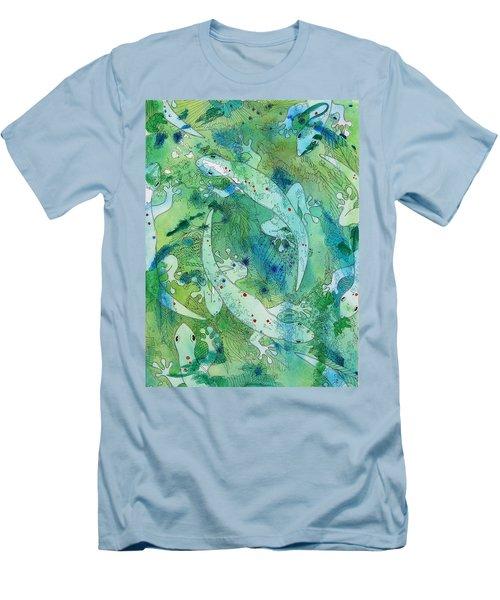 Geckos At Play Men's T-Shirt (Athletic Fit)