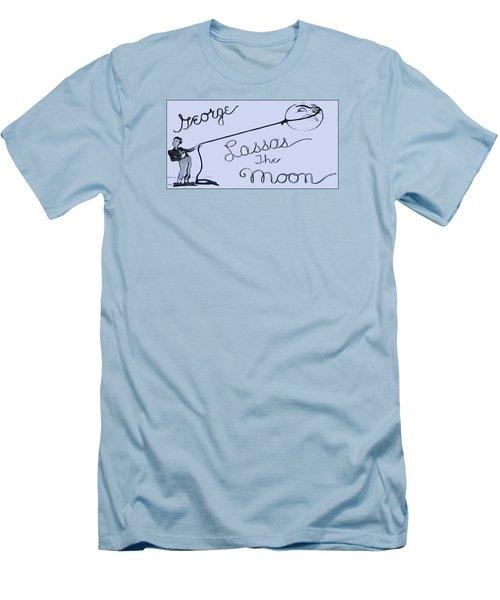 George Lassos The Moon Men's T-Shirt (Slim Fit) by Dan Sproul