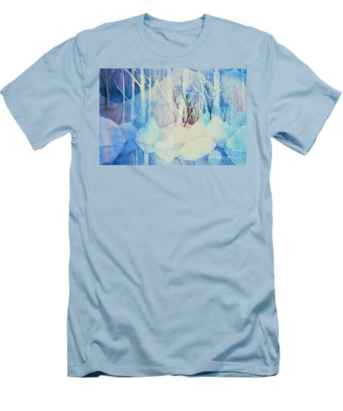 Men's T-Shirt (Slim Fit) featuring the painting Ghost Forest by Teresa Ascone