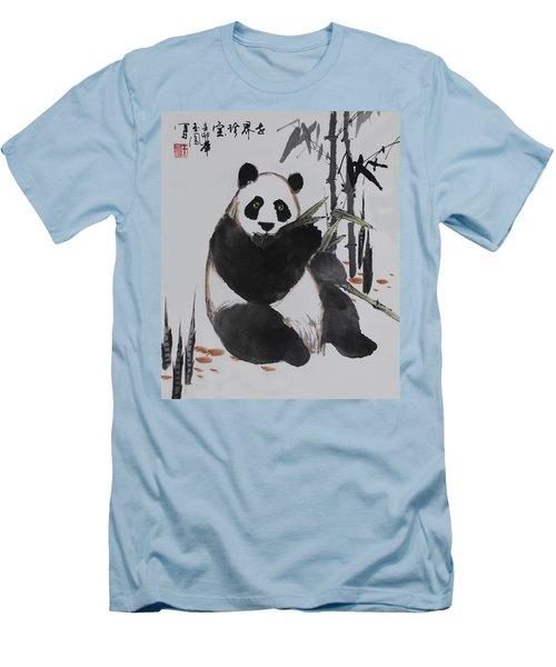 Men's T-Shirt (Slim Fit) featuring the photograph Giant Panda by Yufeng Wang