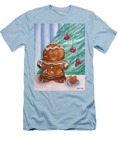 Gingerbread Cookies Men's T-Shirt (Slim Fit) by Victoria Lakes