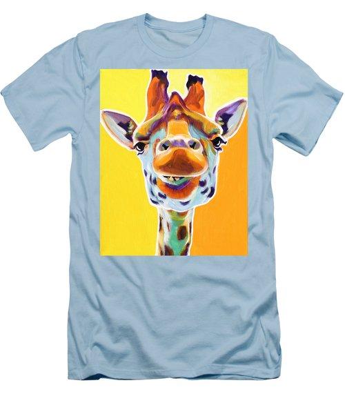 Giraffe - Sunflower Men's T-Shirt (Athletic Fit)