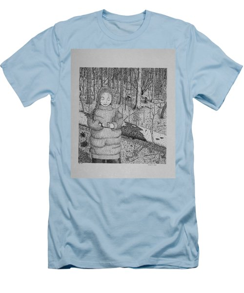 Girl In The Forest Men's T-Shirt (Athletic Fit)