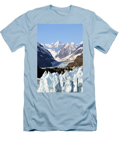 Men's T-Shirt (Slim Fit) featuring the photograph Glacier Bay Alaska by Sonya Lang